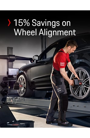 Save 15% on a standard 4-wheel alignment.