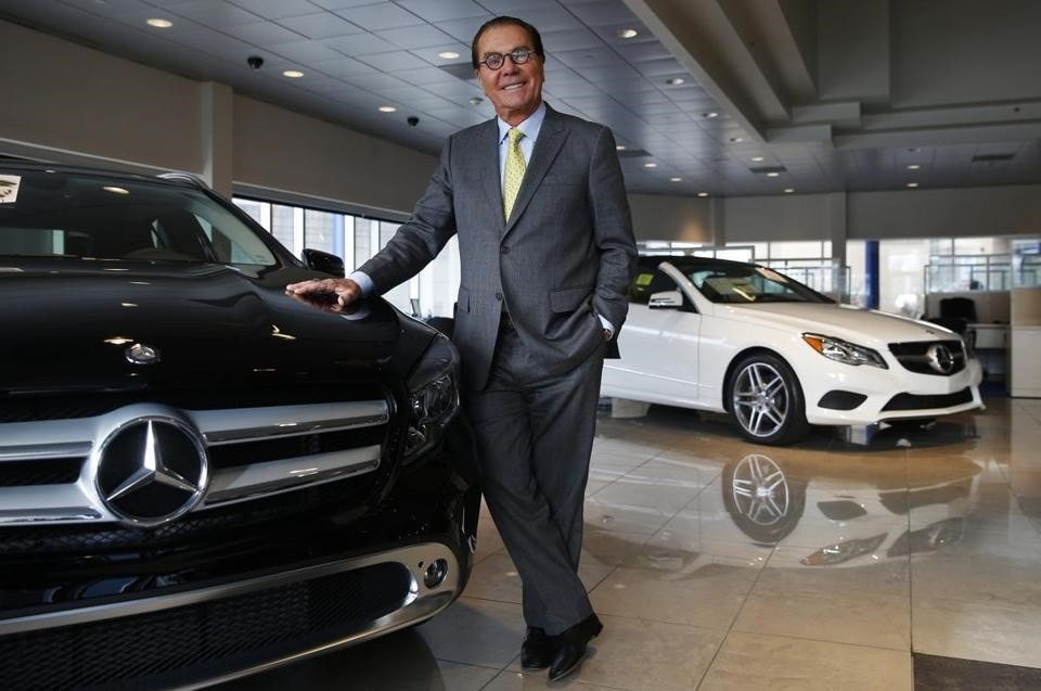 Herb Chambers at his Mercedes-Benz dealership