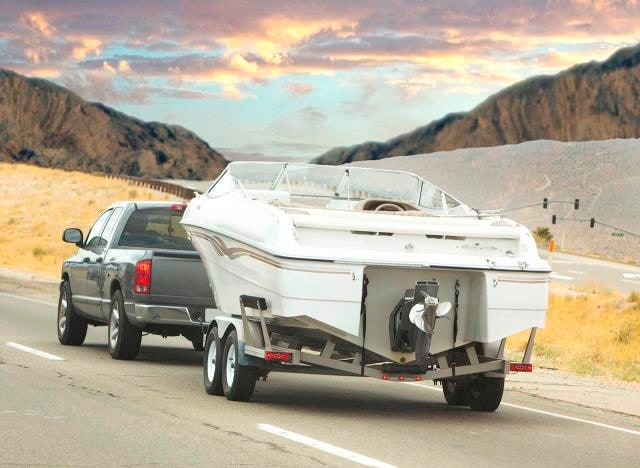 Truck Towing Boat