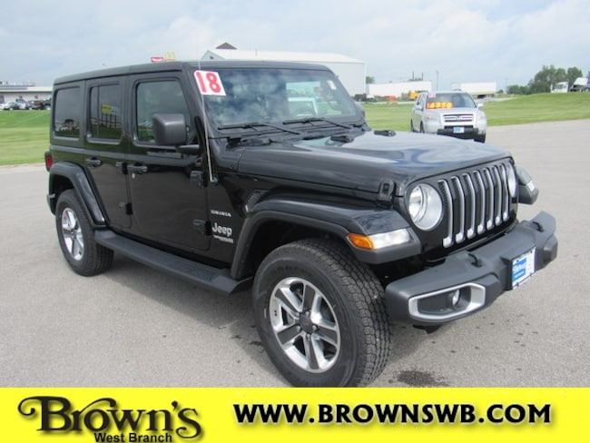 New 2018 Jeep Wrangler UNLIMITED SAHARA 4X4 Sport Utility in West Branch
