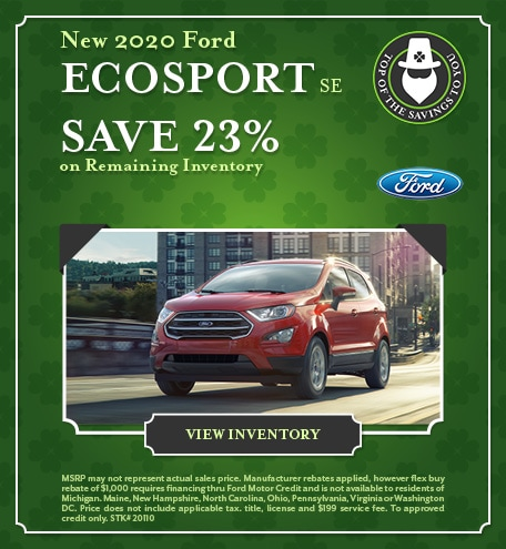 New 2020 Ford EcoSport SE - March 2021