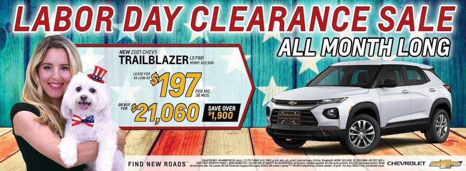 2021 Chevrolet Trailblazer September