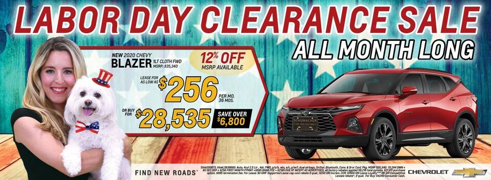 New 2020 Chevrolet Blazer September