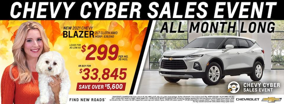 2021 Chevrolet Blazer November