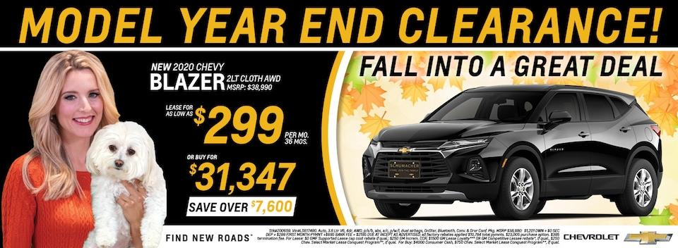 2020 Chevrolet Blazer October