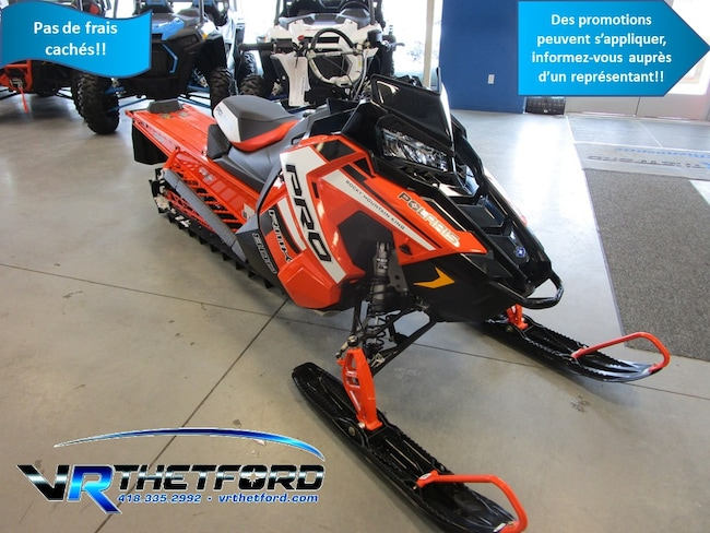 2019 POLARIS 800 PRO RMK 155 3 POUCES TUNNEL ET RAIL ORANGE