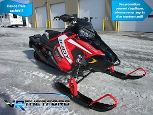 2019 POLARIS 800 INDY XC 129 SNOWCHECK TUNNEL NOIR ET RAIL ROUGE