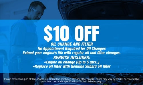 $10 Off Oil Change and Filter