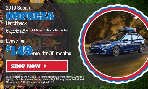 2019 Subaru Impreza - July