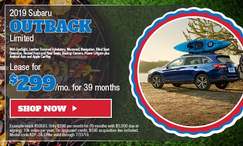 2019 Subaru Outback Lease - July