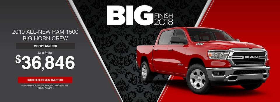 2019 All-New RAM 1500 Big Horn Crew Cab Special