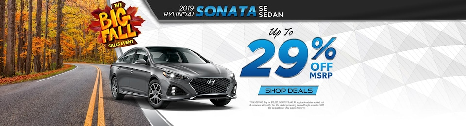 2019 Hyundai Sonata SE – UP TO 29% OFF!
