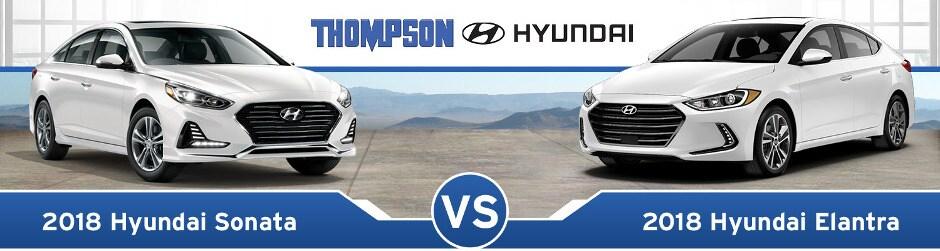 Elantra Vs Sonata >> 2018 Hyundai Sonata Vs 2018 Hyundai Elantra Review Near Dundalk