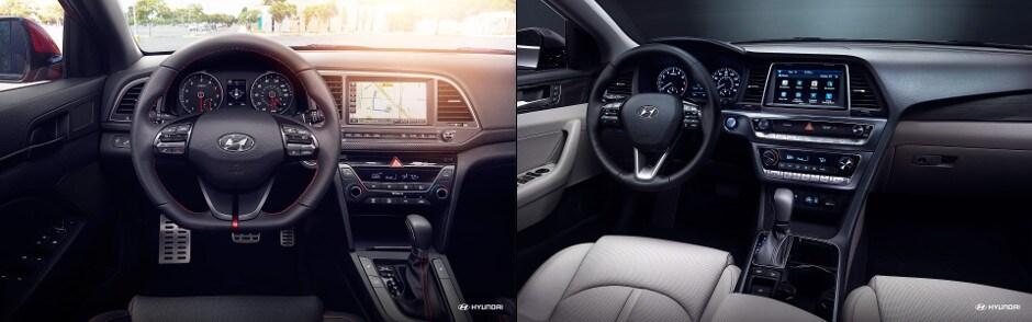 Awesome 2018 Hyundai Elantra And 2018 Hyundai Sonata Interior