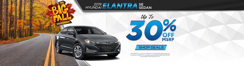 2019 Hyundai Elantra SE - UP TO 30% OFF!