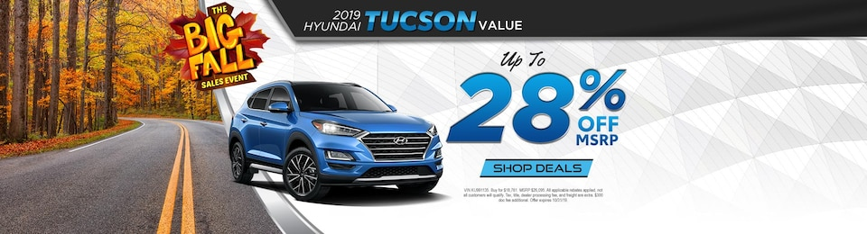 Hyundai Tucson Value – UP TO 28% OFF!