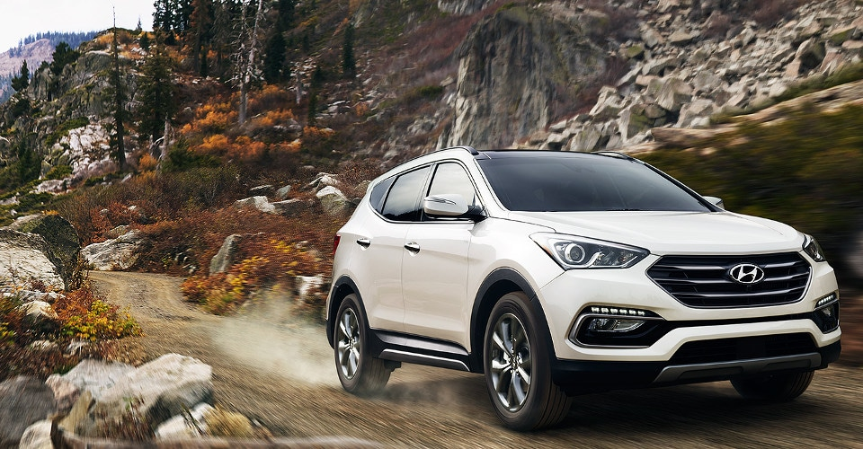 2017 Hyundai Santa Fe Sport Driving in Mountains