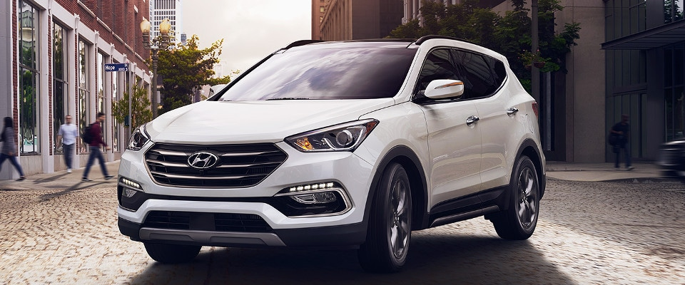 2017 Hyundai Santa Fe Sport Parked in City