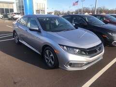 New 2019 Honda Civic LX Sedan 2HGFC2F62KH516305 for sale in Terre Haute at Thompson's Honda
