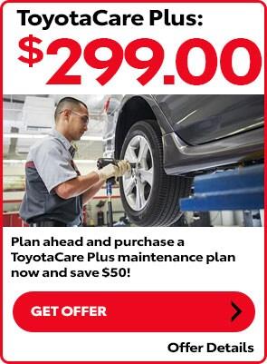ToyotaCare Plus $299.00
