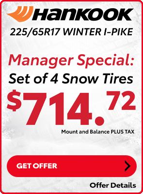 Hankook Winter Tire Special: $714.72 set of 4 Tires
