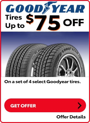 Goodyear Tire Special: Up to $75 OFF