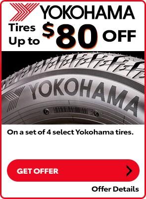 Yokohama Tire Special: Up to $80 OFF