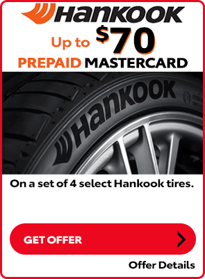 Hankook Tire Special: Up to $70 Off