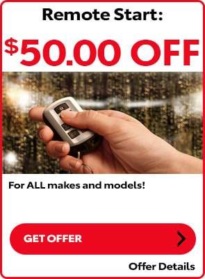 $50 OFF Remote Start for all makes and models