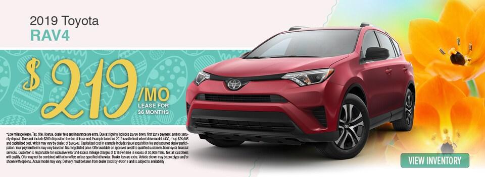 2019 Toyota RAV4 Lease Special