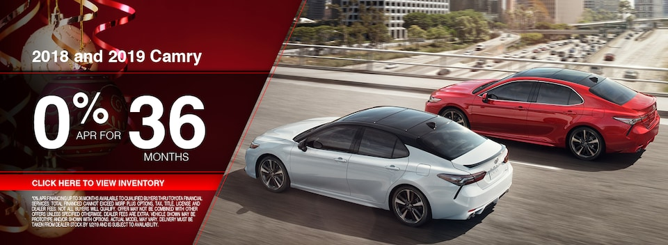 2018 and 2019 Toyota Camry Special