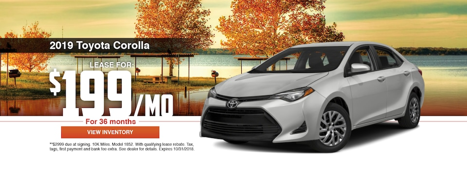 2019 Toyota Corolla Lease Special