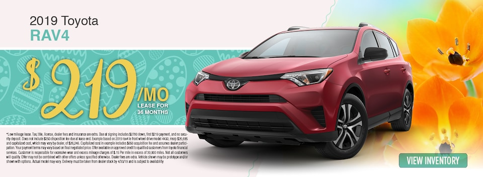 2019 Toyota RAV4 Lease Special