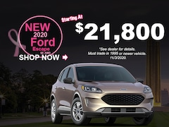 New 2020 Ford Escape SE AWD Starting At $21,800