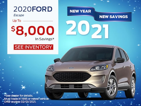 2020 Ford Escape up to $8,000 in savings*