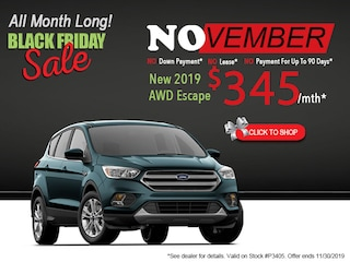 New 2019 Ford AWD Escape Black Friday Sale
