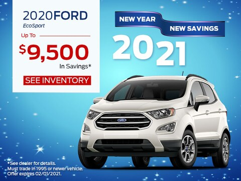 2020 Ford EcoSport up to $9,500 in savings*