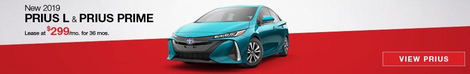 New 2019 Prius L & Prius Prime