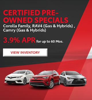 Certified Pre-Owned Specials Corolla Family