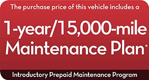 1-year/15,000-mile Maintenance Plan
