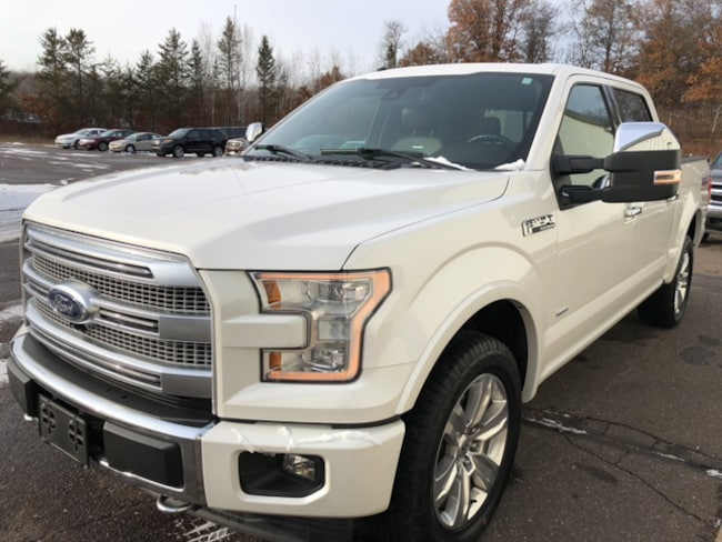 Certified 2017 Ford F-150 Platinum 4x4 SuperCrew Cab Styleside 5.5 ft. box 1 Truck SuperCrew Cab For Sale in Hayward, WI