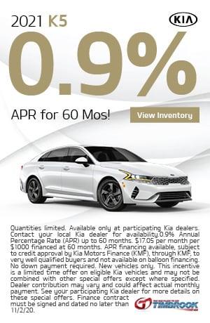 2021 Kia K5 - 0.9% APR