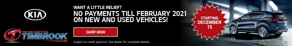 Select New and Used Vehicles - No Payments Til February 2021