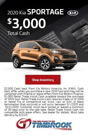 2020 Kia Sportage - Savings