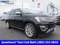 New 2019 Ford Expedition Max Platinum SUV 1FMJK1MTXKEA45182 for Sale in Spanish Fork