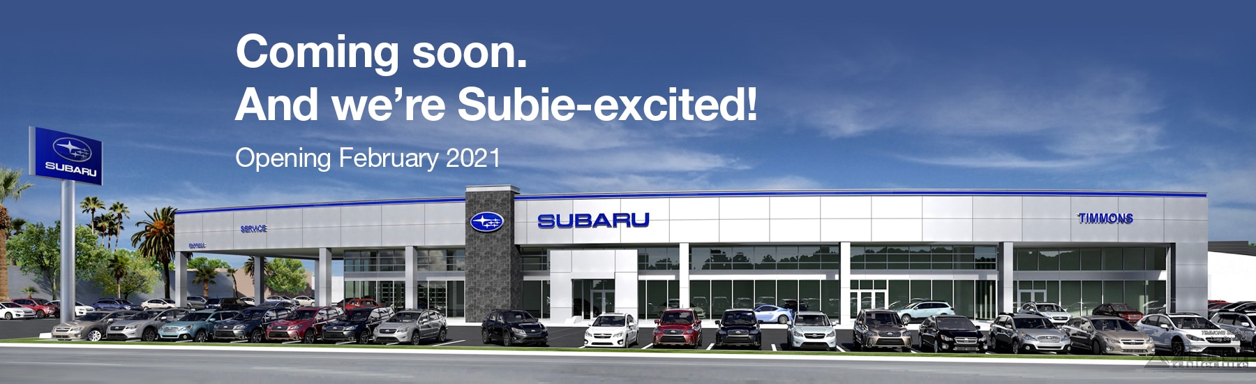 Timmons Subaru is building a new dealership. Opening February 2021