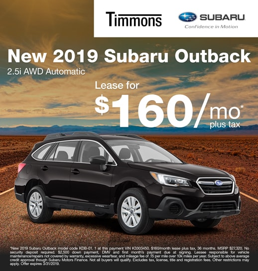 2019 Subaru Outback 2.5i Premium Available at Timmons Subaru Long Beach