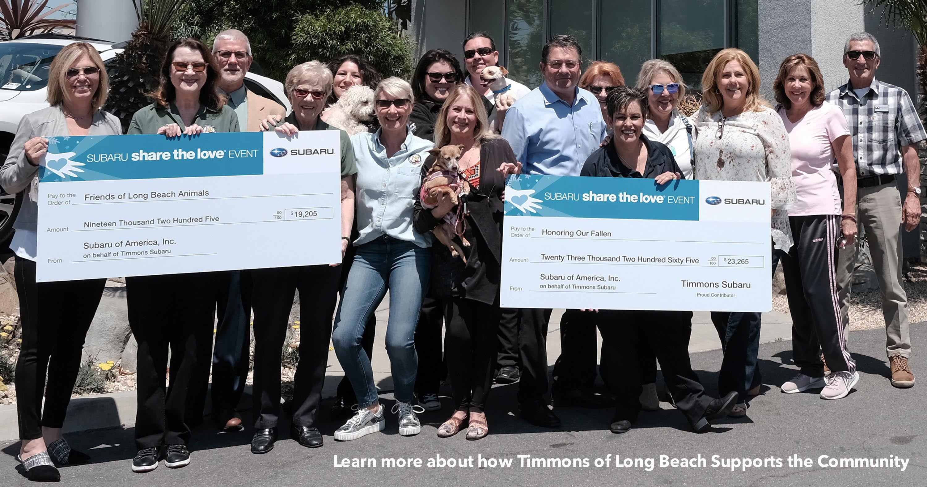 Timmons Subaru of Long Beach Supports the local community