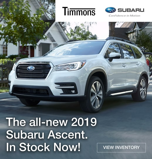 The all new 2019 Subaru Ascent is available now at Timmons Subaru in Long Beach