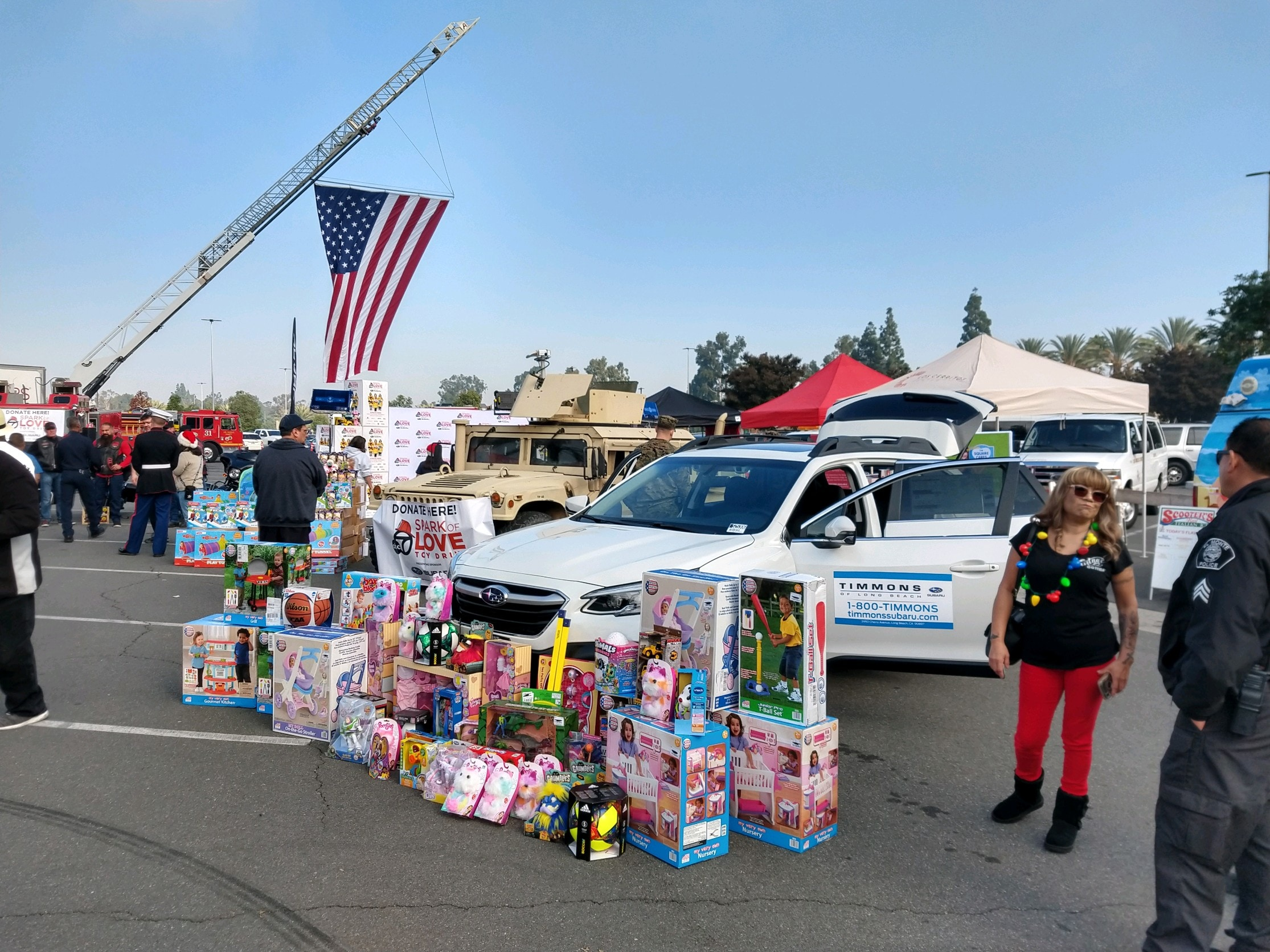 Timmons of Long Beach proudly supports and participates in the ABC7 Spark of Love Charity Toy Drive Event presented by Subaru